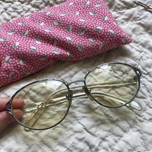 Vintage Granny Glasses Frames Dr. Peepers Blue S